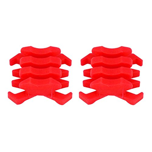 MonkeyJack 2 Pieces Rubber Limb Vibration Dampener for Compound Bow - Red ()