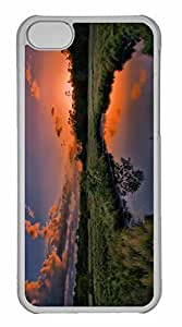 iPhone 5C Case, Personalized Custom Sunset Summer for iPhone 5C PC Clear Case