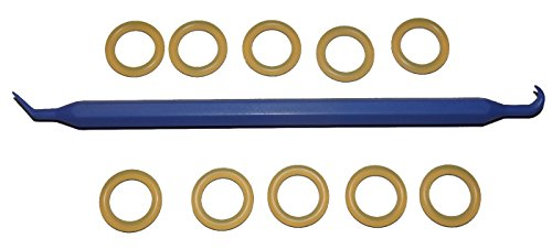SCUBA Standard 11/16inch Tank DIN Valve/Regulator POLYURETHANE 112 O-Ring (10 pcs) [Bonus O-Ring Pick] by Captain O-Ring LLC