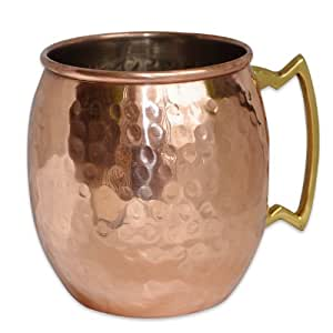 Copper Moscow Mule Mug Hammered Dutch Style Lacquered Finish