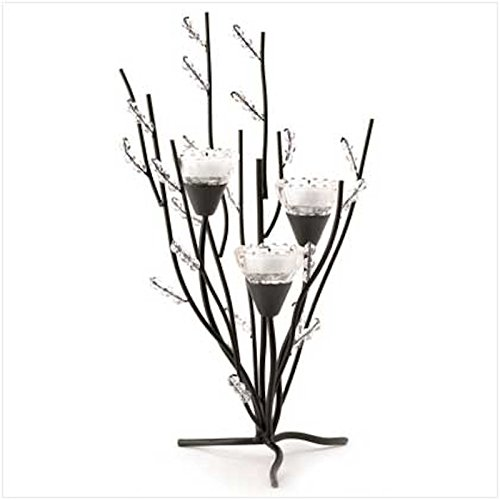 2 Crystal Tree Tealight Holder Candle Stands Table Centerpiece by Candle Holder