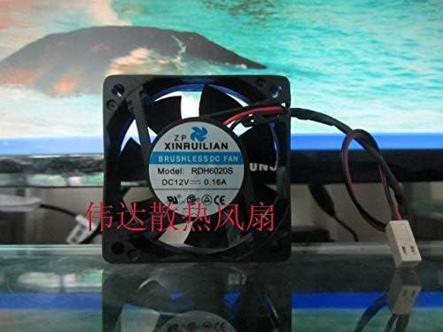Original SCIENCE RDH6020S 24V 0.20A 6CM RUILIAN 6020 606020MM 2 wire cooling fan