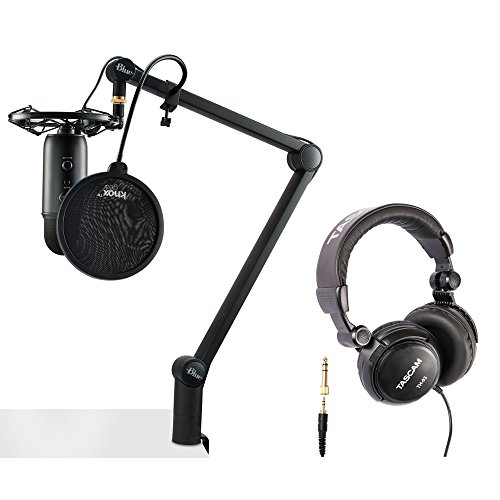 - Blue Microphones Yeticaster Professional Broadcast Bundle with Knox Pop Filter and Studio Headphones