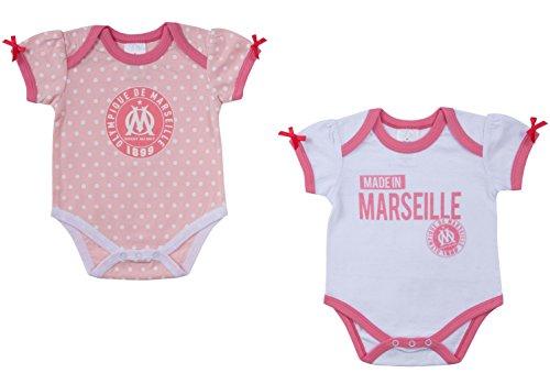 5145861e950ad OLYMPIQUE DE MARSEILLE Lot 2 Bodys Om - Collection Officielle Taille b b   24 Mois  Amazon.fr  Sports et Loisirs