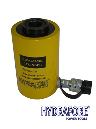 20 tons 2'' stroke Single acting Hollow Ram Hydraulic Cylinder Jack YG-2050K by HYDRAFORE (Image #6)