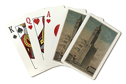 new-york-ny-woolworth-building-tallest-from-1913-1930-playing-card-deck-52-card-poker-size-with-joke