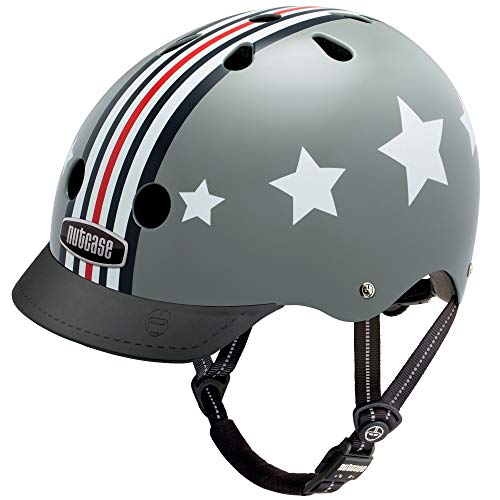 Nutcase – Patterned Street Bike Helmet for Adults, Fly Boy, Medium