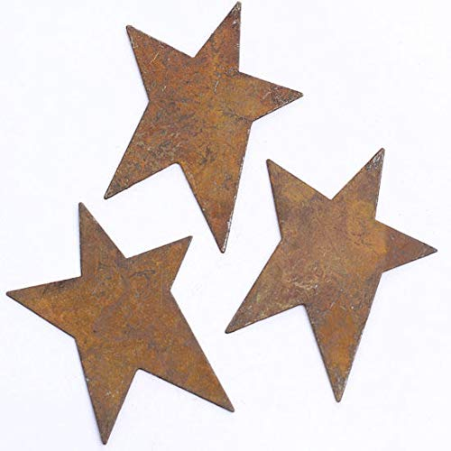 (Factory Direct Craft Rusty Tin Primitive Stars | 18 Pieces)