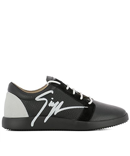 Van Giuseppe Zanotti Ontwerp Mannen Rm80087005 Zwart Lederen Sneakers