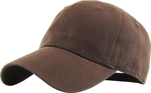 KB-LOW BRN Classic Cotton Dad Hat Adjustable Plain Cap. Polo Style Low Profile (Unstructured) (Classic) Brown Adjustable ()
