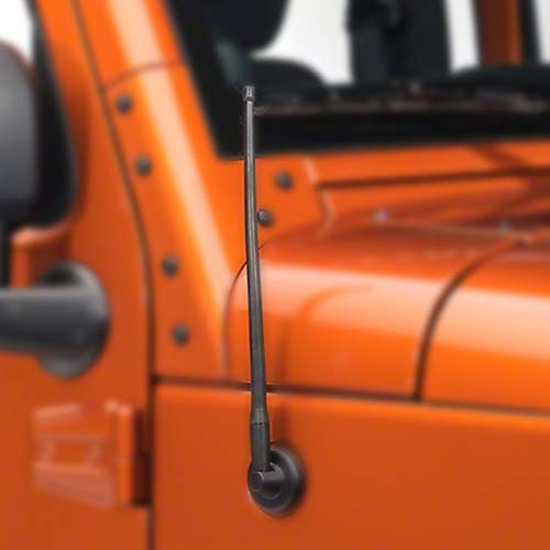 Liberty Radio Antenna 13-inch for 2007-2018 Jeep Wrangler JK JL Replaces# A1J-JEP17,5064351AB Flexible Rubber Antenna ()