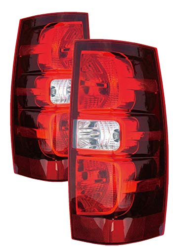 For 2007 2008 2009 2010 2011 2012 2013 2014 Chevrolet Chevy Tahoe/Suburban Rear Tail Light Taillamp Pair Set Replacement