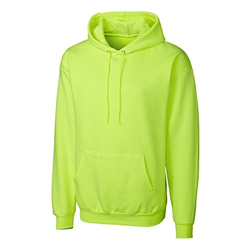 Cutter & Buck Men's Basics Fleece Pullover Hoodie, Bright Neon Yellow - 7XL