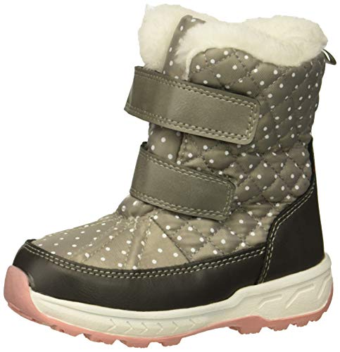 carter's Girls' Fonda Cold Weather Snow Boot, Grey, 6 M US Toddler