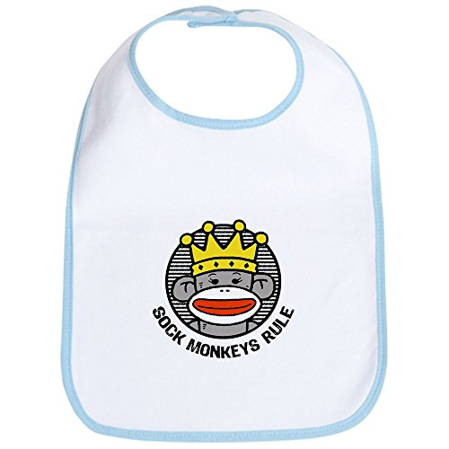 - CafePress - Sock Monkeys Rule Bib - Cute Cloth Baby Bib, Toddler Bib
