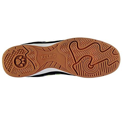 Kelme Hombre K Strong Interior Corte Zapatillas Zapatos Tobillo Acolchado Negro/Lima/Azul