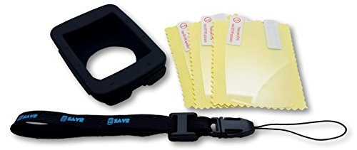 (G-SAVR Garmin Edge 520 Ultimate Protection Bundle - Includes Lanyard, Molded Protective Silicone Case, and 3 Screen)