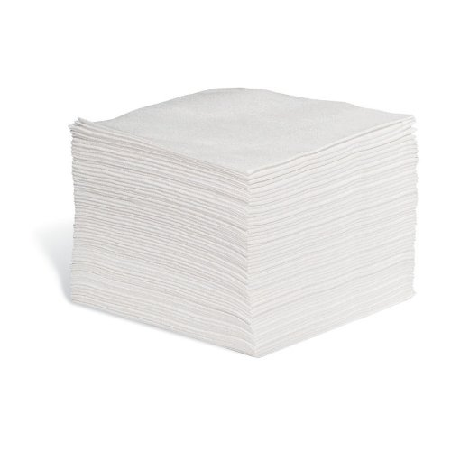 New Pig WIP660 WorkWipes Series 60 Polypropylene/Cellulose Fiber Wiper, 13'' Length x 12'' Width, White (Case of 900)