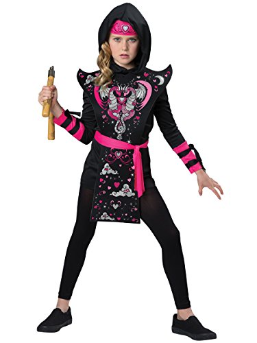 Pink Dragon Ninja Costumes (InCharacter Costumes Ninja Girl Costume, One Color, Size 4)