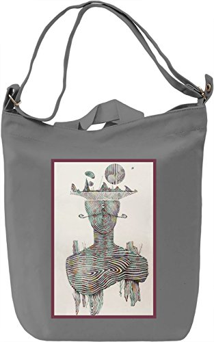 Surreal Man Borsa Giornaliera Canvas Canvas Day Bag| 100% Premium Cotton Canvas| DTG Printing|