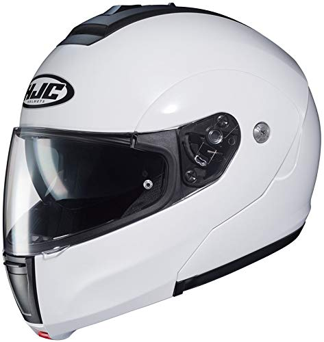 HJC Solid Men's CL-MAX 3 Modular Street Motorcycle Helmet - White / Large