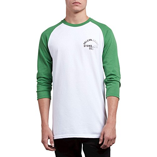Volcom Men's War Shack Basic Fit 3/4 Sleeve Raglan Tee, White, ()