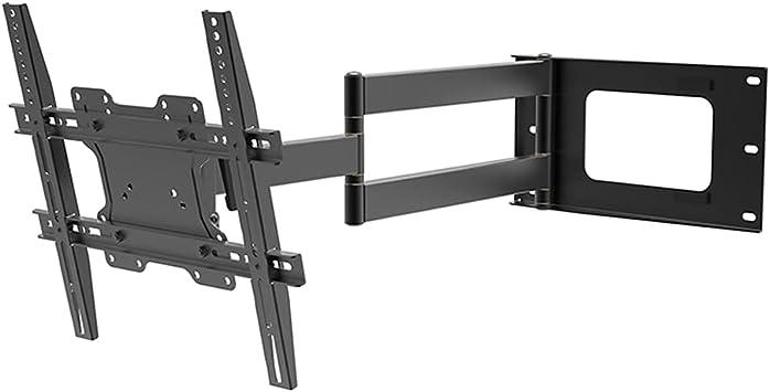 DQ Hercules Flex 400 Negro - Soporte TV de pared - TV circa: 24-65 Zoll - VESA 75x75 ... 200x200 ... 400x400 mm - Totalmente portátil / Giratorio / ...