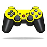 MightySkins Skin Compatible with Sony Playstation 3 PS3 Controller wrap Sticker Skins Solid Yellow
