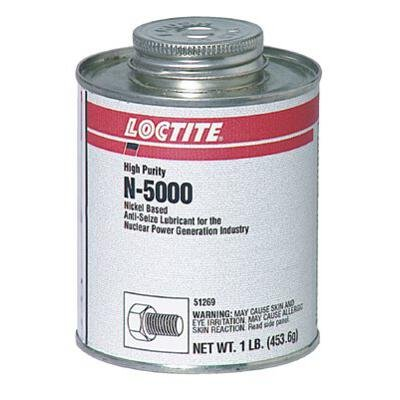 Loctite 51243 Silver LB N-5000 High-Purity Anti-Seize Lubricant, -20 Degree F Lower Temperature Rating to 2400 Degree F Upper Temperature Rating, 8 fl. oz. Brush Top Can by Loctite