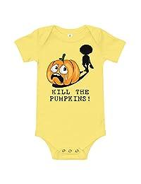 Amazingly Good Products Funny Halloween Jack O Lantern Costume | Kill The Pumpkins! T-Shirt