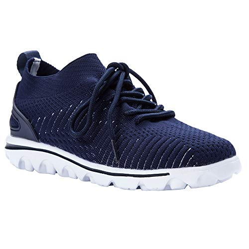 Propet Women's TravelActiv Aviator Sneaker, Navy, 7 Medium ()