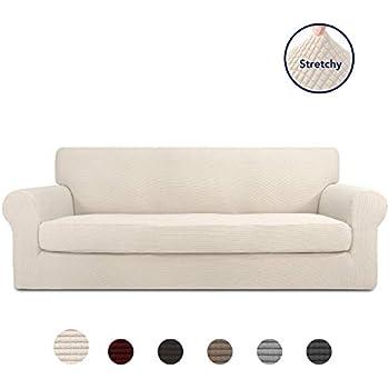Amazon.com: Subrtex - Funda de sofá elástica de 2 piezas de ...