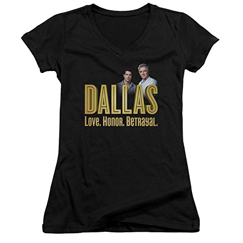 Dallas Soap Opera Drama TV Series TNT Logo Christopher Bobby Jrs V-Neck (Lg Opera Tv)