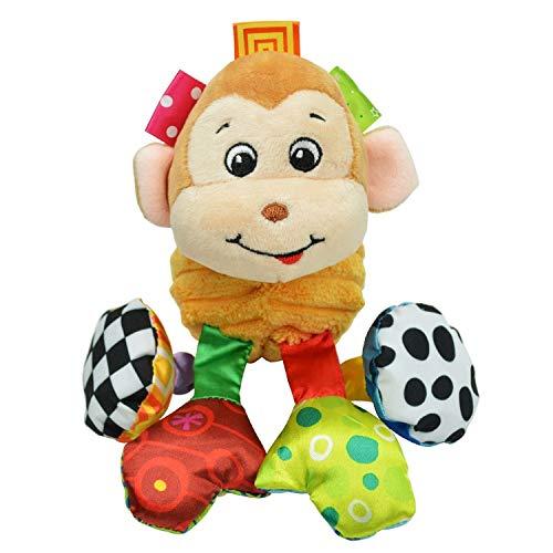 (GARGON Cat Baby Toys 2019, 1pcs Sozzy Multifunctional Baby Animal Plush Toys - Blue Elephant Baby Toy, Plush Hanging Monkey in Baby, Elephant Baby Pillow, Educational Animal Toys)