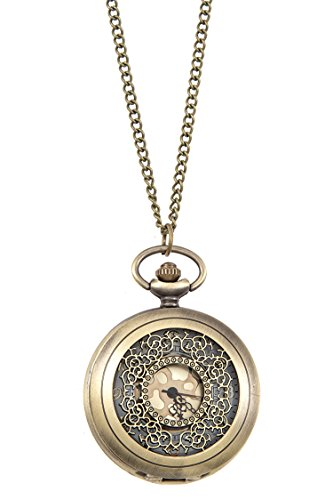 GlitZ Finery ANTIQUE FLORAL FILIGREE ORNATE POCKET WATCH PENDANT (Burnished Gold) (Fashion Ornate Cuff Watch)