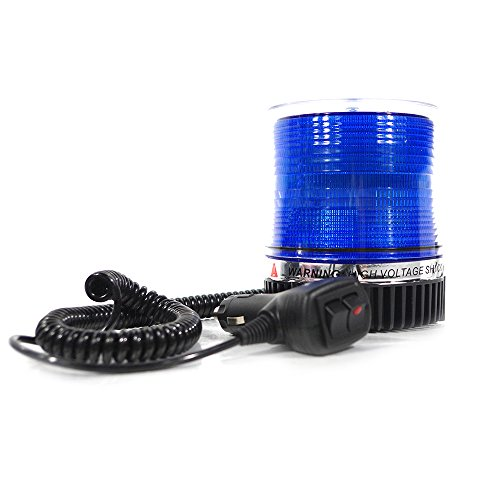 Xprite High Intensity Blue Revolving 12 LED Emergency Vehicle Magnetic Mount Strobe and Rotating Beacon Warning Light (Blue Led Beacon Light)