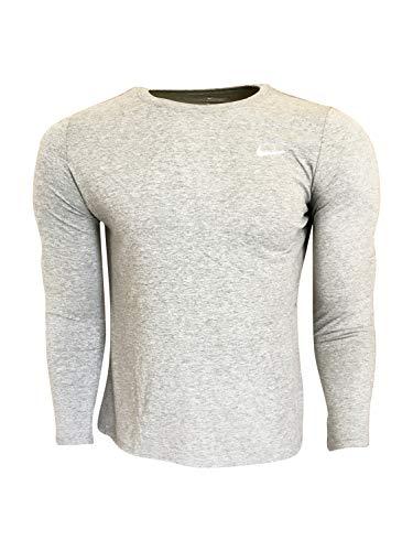 Nike Men's Long Sleeve T-Shirt Cotton/Polyester Blend DC8776 Dark Grey Heather (X-Large) 1