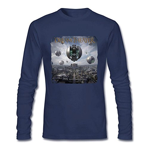 Scenes T-shirt Dream Theater (TMILLER Men's Dream Theater The Astonishing Long Sleeve T-shirt Size S Royal Blue)