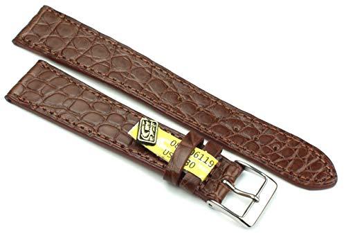 20 mm XL äkta alligator klassisk hänglampa i Tyskland klockarmband blå