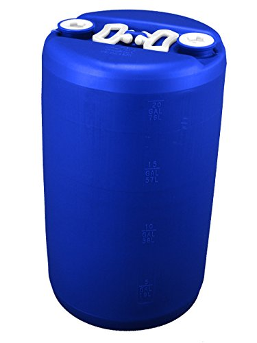 (20 Gallon Emergency Water Storage Drum, Blue - New! - Boxed!)