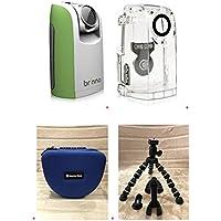 Brinno Time Lapse Camera TLC200 Green + ATH110 Weather Resistant Housing Case + Smartec Camera Bag + Smartec Flexible Spider Tripod