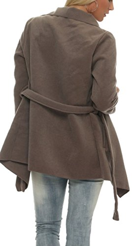 Gilet Design avec malito Enrouler court Bol Manteau Veste Cascade qwFXI1