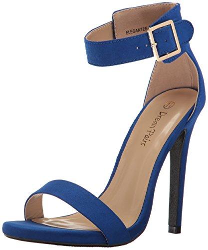 Dream Pairs Mujer Elegantee Dress Pump Royal Blue Suede
