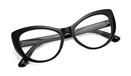 FEISEDY Womens Cateye Glasses Frame Printed Eyewear Non-prescription Eyeglasses ()