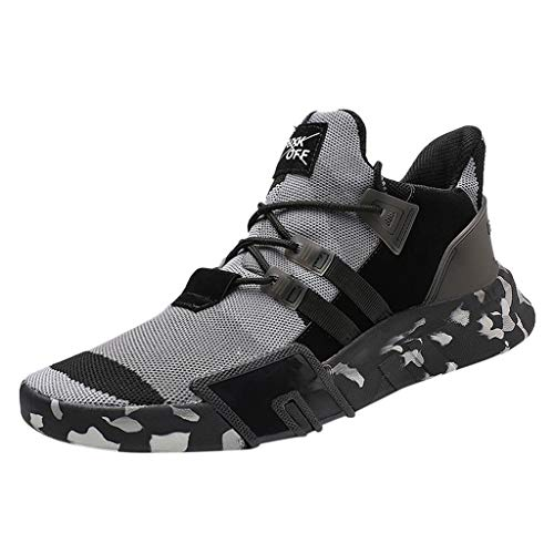 Men's Running Sneakers Walking Lace-Up Sports Shoes Classic Sneakers Refined Breathable Lightweight Shoes Size US:7-11 (9 M US, ()
