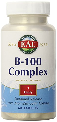 KAL B-100 Complex SR Tablet, 100 mg, 60 Count