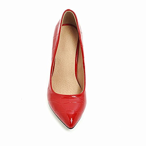 Women's Pointed Court Toe Stiletto Heel Shoes Red High Carolbar Elegant Sexy pnHdwYpqT
