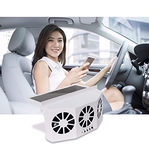 Alelife Car Ventilator - Solar Powered Car Auto Air Vent Cool 3-Fan Cooler Ventilation System Radiator (White)
