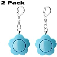 2 Pack Blue 120dB SOS Emergency Personal Alarm Keychain Safety Alarms Rape Attack for Students/Women/Kids/Girls/Superior/Elderly Self Defense Electronic Device Bag Decoration
