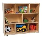 Wood Designs Kids Play Toy Book Plywood Organizer Wd14200 Single Storage, 42''H